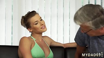 Old Mom First Time Sex With Her Boyboss´s Father After Swimming Pool
