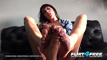 Mirannda Madinson - Flirt4Free - Gorgeous Petite Latina w Foot Fetish Fucks a Dildo