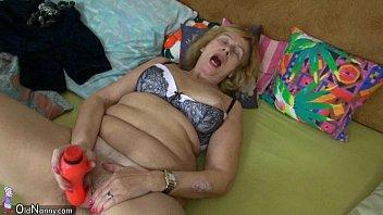 Fat granny and fat mature masturbating pussy together 8 min