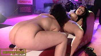 Freud anal stage Brunette pornstars lesbian show on stage