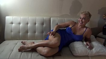 Thick Blonde Milf Playing with her Hitachi