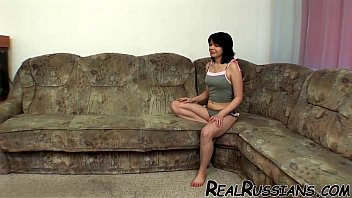 RUSSIAN SLUT SCREWED ON COUCH !! prostitute porn