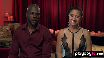 Curious ebony couple join to a private swinger club thumbnail