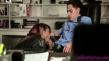 Asian Slut Robs The Office & Guard's Virginity- Kimberly Chi