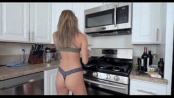 Step brother and sister sister kitchen fuck
