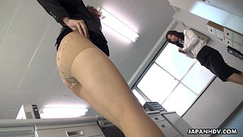 Top japanese lesbian tubes - Office slut fondles her wet pussy on the table