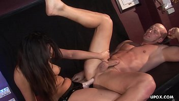 After she fucks his ass she gets her pussy plowed