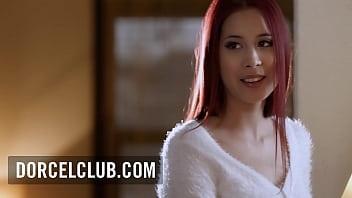 Dorothy Black uses her strap-on dildo with beautiful redhead Paula Shy
