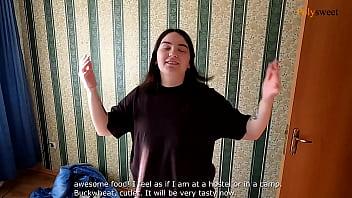 Девушка испортила оргазм в российском отеле. (минет, удары яиц)