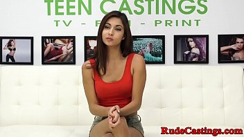 Young beauty hardfucked at casting audition