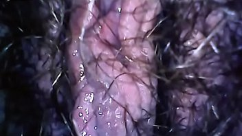 Spy on your mom's big hairy pussy while peeing filmed herself with this micro camera to show you everything