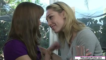 Blonde hooked and licked lesbian milf