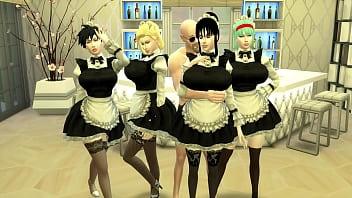 Sirvientas Esclavas Episodio 11 Haren de Esposas Hermosas Bulma Chichi nro 18 y Videl Esclavas sexuales Maestro roshi Dragon Ball Hentai