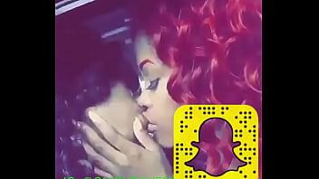 Black cutie teens kissing !