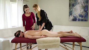 I'm not a whore, I'm a masseuse! - Kimber Woods, Chloe Scott and Lucas Frost