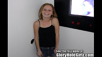 Red Head Shorty Ravaged in a Glory Hole! 5 min