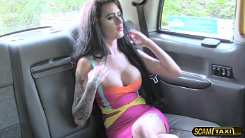 Slutty brunette Emma gets ass fucked by the drivers big dick