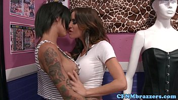 thumb femdom inked sq  uirter in threesome some esome some