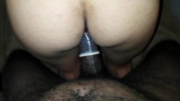 Latina cums on black dick