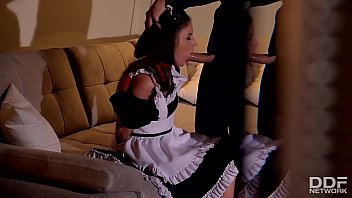 Dominant boss humiliates, spanks & ass fucks his naughty maid Anita B.