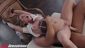 New Sensations - Professor Ties Up Slutty Teen Natalie Knight BDSM After Class