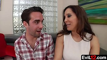 Hot stepmom takes the big cock of young stepson