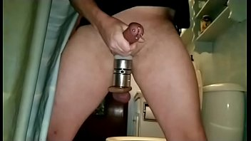 Ball stretcher shaved Jerking my pierced cock with ball stretchers in slow motion