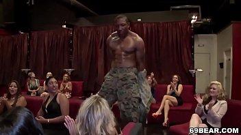 Horny girls go crazy for stripper dick