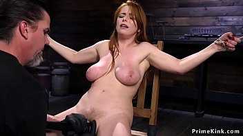 Natural big tits redhead zippered