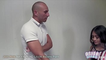 Young Teen Jasmine Grey Fingered by Trainer: AsianSpanks.com