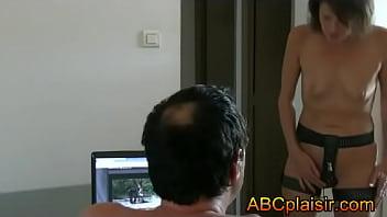 Chastity belt with dildo mounted - Ceinture de chasteté pas pute mais soumise