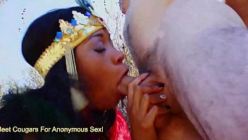 Ebony Queen Yasmine de Leon Makes A White Guy Cum 22 min