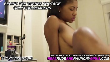 Teen fuck videos - Big tits ebony teen fucked and exposed first time video