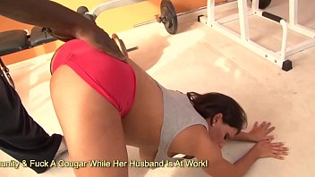 Leena Sky Slides Her Trainers Black Cock Into Her Sweaty Pussy