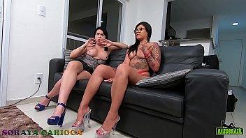 Soraya Carioca sofa test with young and naughty Amanda Souza