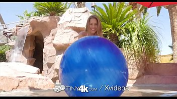 Tiny4k Backyard beach fun and fuck with petite Lilly Ford