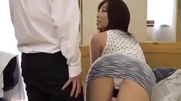 Horny japanese friend's mom gets fucked even if here s. is there