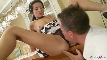 SKINNY MAID FUCK THE HUSBAND - Wife away so fuck all day