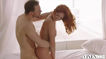 Beautiful red head dancing nude - Vixen red head loves passionate sex