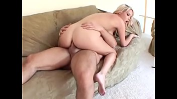 Pretty blonde student with big natural boobs Kissy Kapri was rewarded with great cum load in her mouth after longstanding peanut butter with hard rod