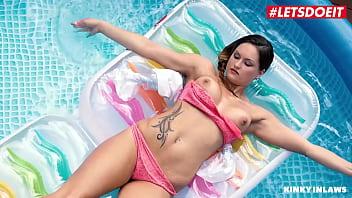 Kinky Inlaws - Hot Brunette StepSis Barbara Bieber Teases and Pleases StepBro - LETSDOEIT