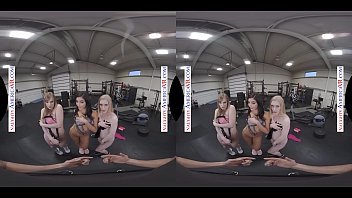VR GROUP SEX IN THE GYM WITH DOLLY LEIGH, EMILY WILLIS & EMMA STARLETTO