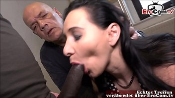 Old cuckold husband look how his young girlfriend fuck with big black cock