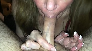 sucks my soft cock till it's hard and took a hit while I came in her mouth
