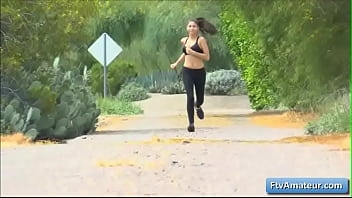 Sexy natural bi g bobed brunette teen Nina goe e teen Nina goes for a run and f