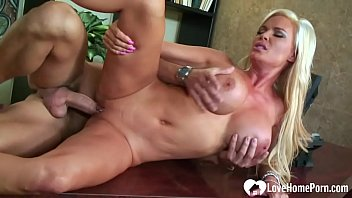 Busty Blonde Lets Him Have Some Fun