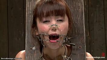 Bound Japanese slut pussy toyed