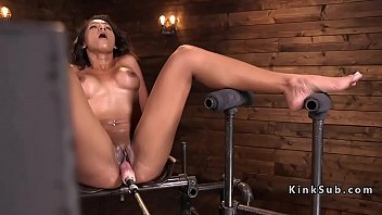 Girls using different dildos - Busty babe using different fucking machines