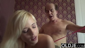 Young girl seduces old man she gets fucked sweet tight pussy and asshole