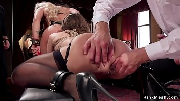 Slaves getting ass to mouth fuck